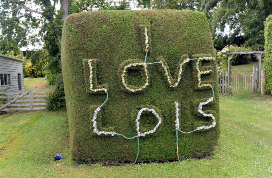A husband shows his love and affection for his wife Lois with this message in Warrington.