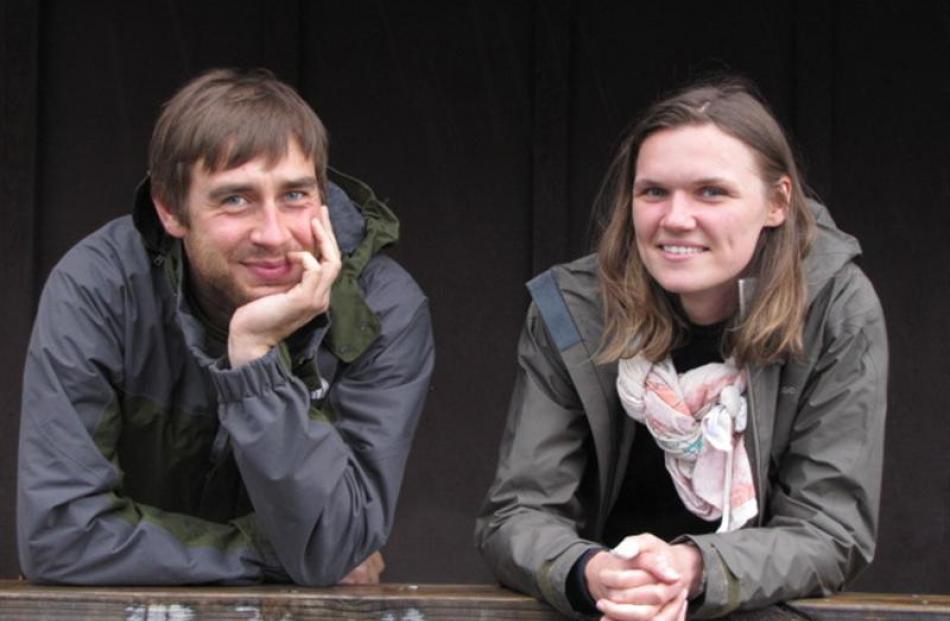 Polish tourists Szymon Kowalczuk and Anna Mikicka were unperturbed at having to return south...