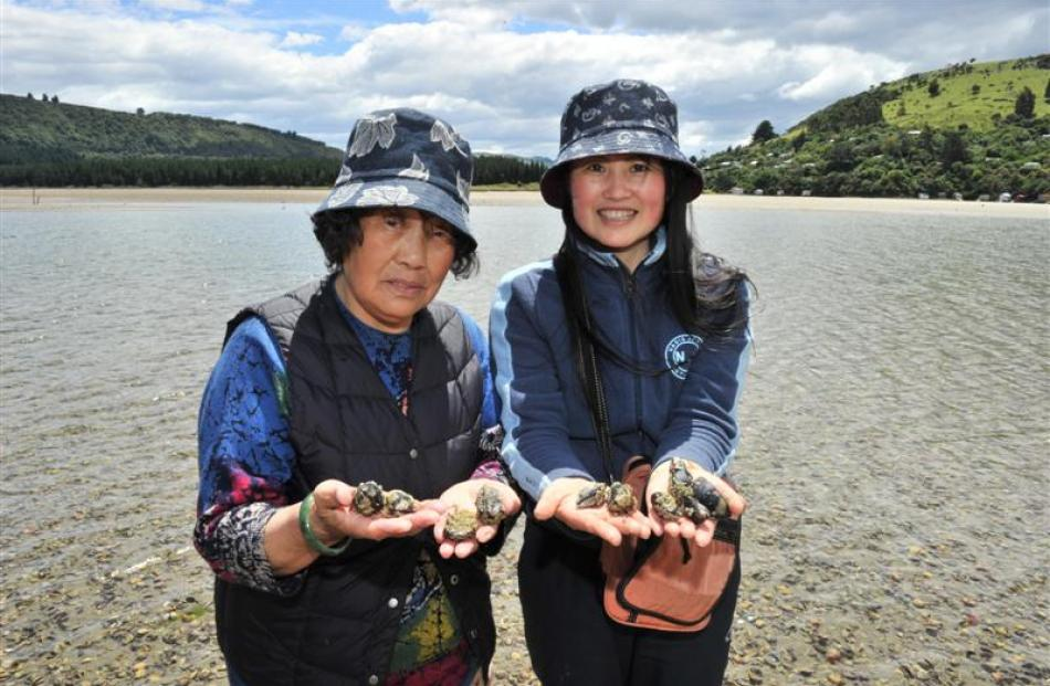 Dunedin resident Summer Cheng with her mother Ri Feng Mu, visiting from Northern China, collect...