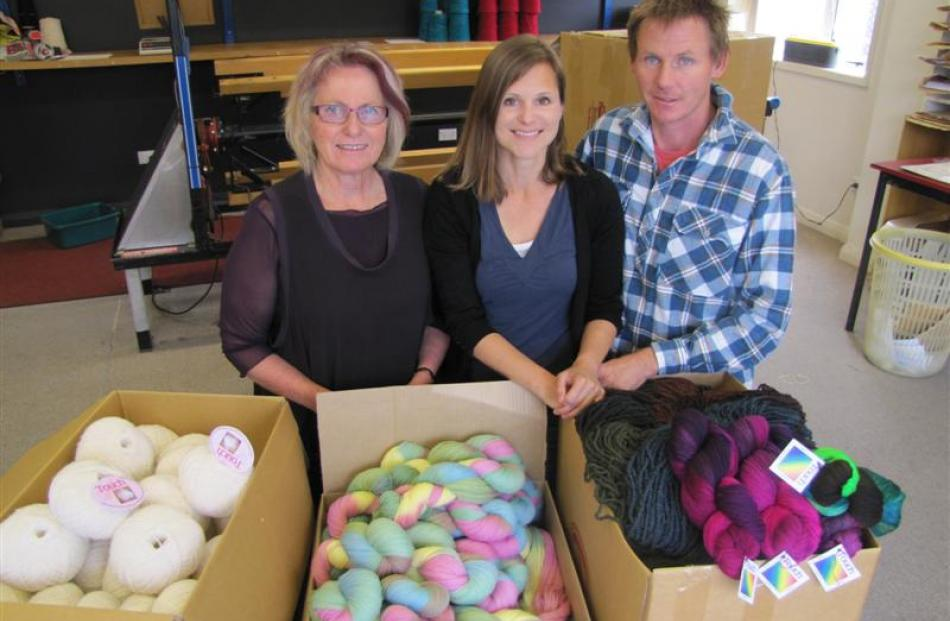 Marnie Kelly (left), daughter-in-law Kylie Knapp and son Glenn Kelly in the packing room. Photos...
