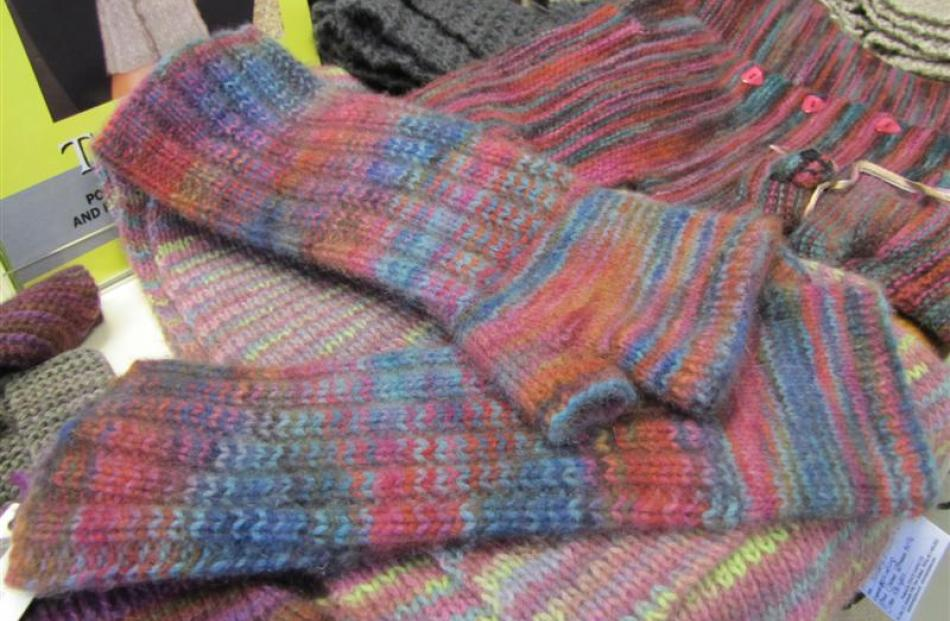 Merino-possum fingerless gloves, an example of patterns sold in the Touch Yarns shop.