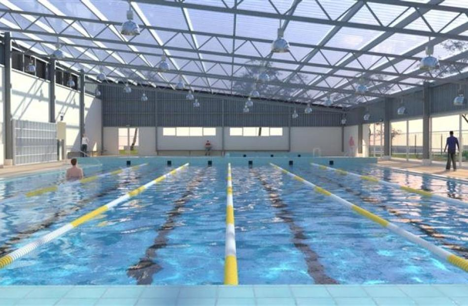 Artists' impressions of what the Tuapeka Aquatic Centre could look like. Graphics supplied.