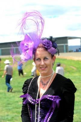 Vicki Yarker-Jones, of Tapanui, steampunk enthusiast and entrant in the Fashion in the Field...