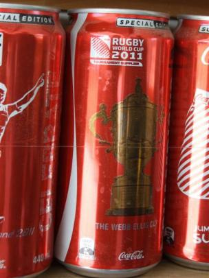 Special edition cans, like the one marking the Rugby World Cup, boost the array.