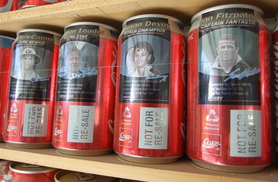 Sports players and events feature prominently over the years on cans produced in this this country.