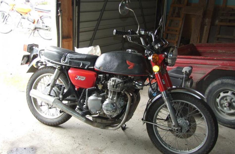 A 1973 350cc Honda.