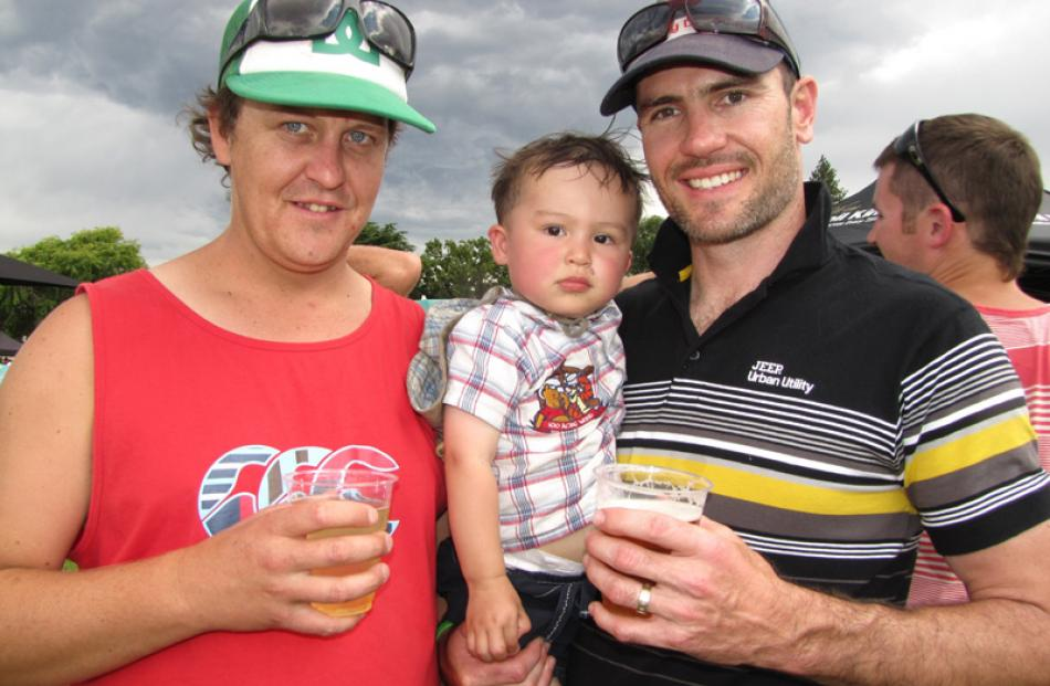 Nick Samuel, of Alexandra, Levi Shanks (18 months) and Keith Shanks, from the Gold Coast, Australia.