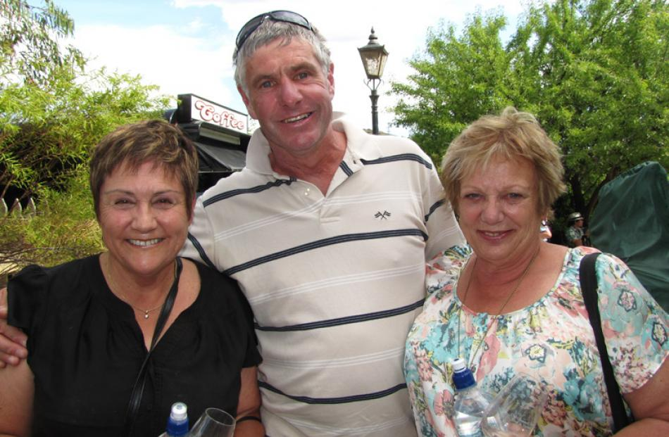 Pat Risk (left), Bob McArthur and Judy Anderson, all of Cromwell.