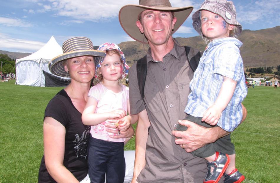 Rhonda, Amber (3), Warren and Joshua Judkins (22 months), all of Lake Hawea.