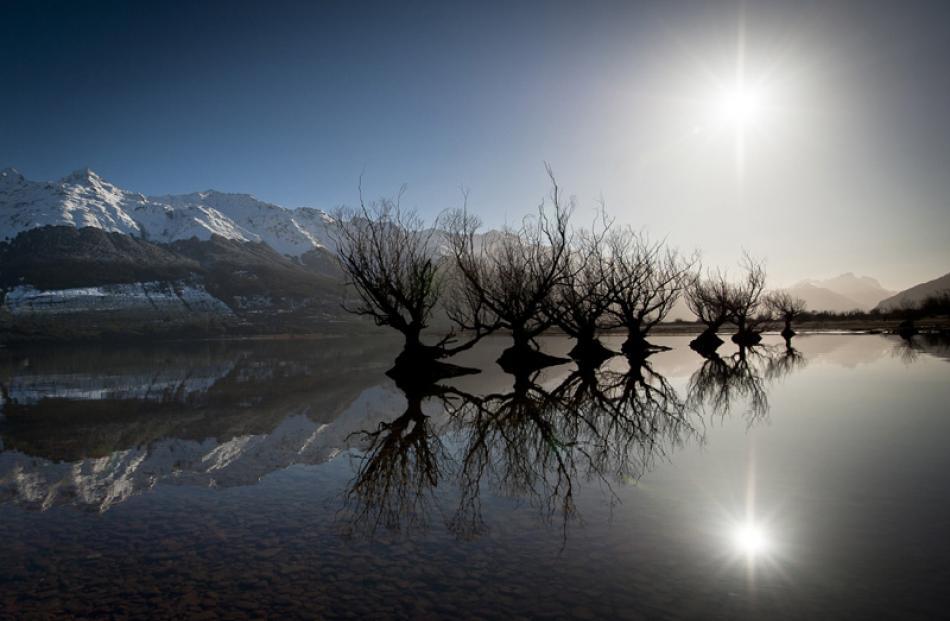 Open Prints  Best Landscape:  Stephanie Forrester,  Invercargill  'Winter Reflected'