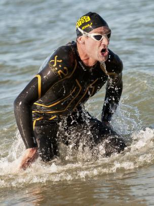 Photojournalism Prints  Honours:  Liz Hardley,  Auckland  'First Swimmer Home'