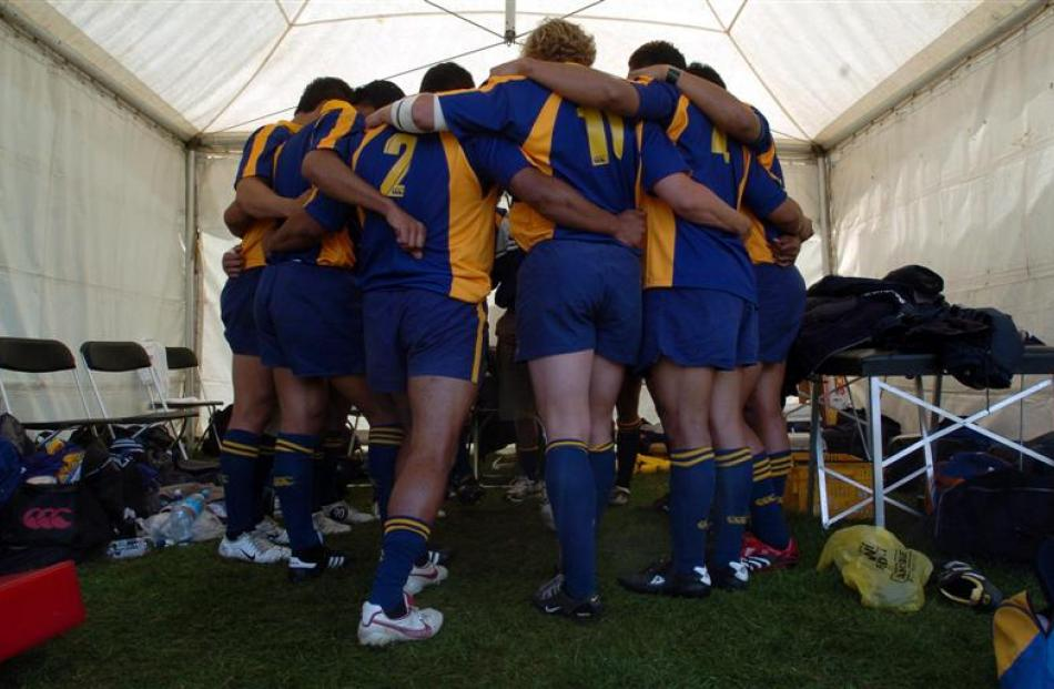 Otago prepares for its quarterfinal match against Bay of Plenty  in 2006.