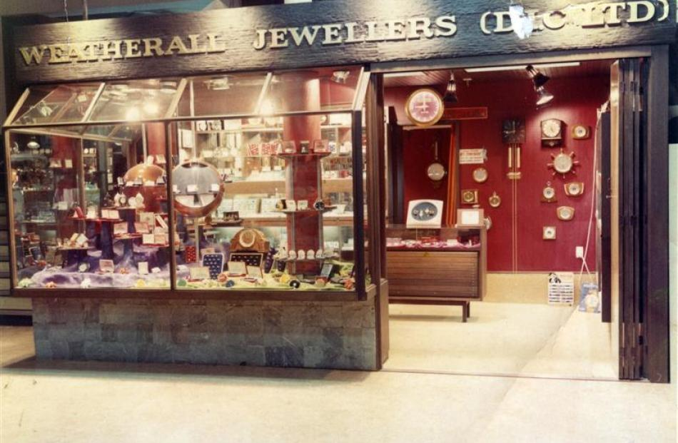 The Weatherall Jewellers store  at DIC in Dunedin. Photo supplied.