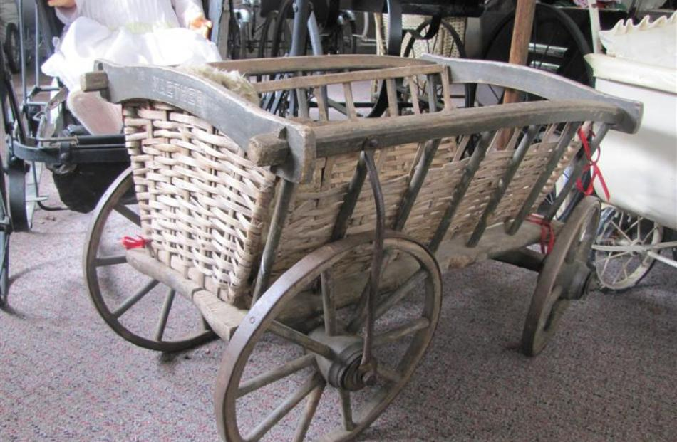 An early 1800s peasant's hop cart that would have also been used as a pram.