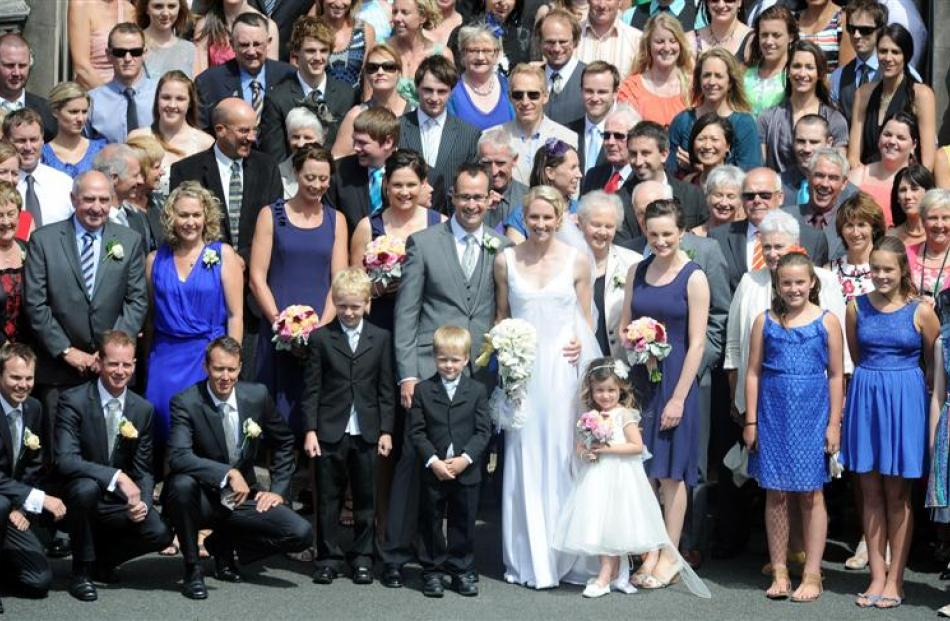 More than 100 guests attended the wedding of cyclist Alison Shanks and her coach Craig Palmer at...