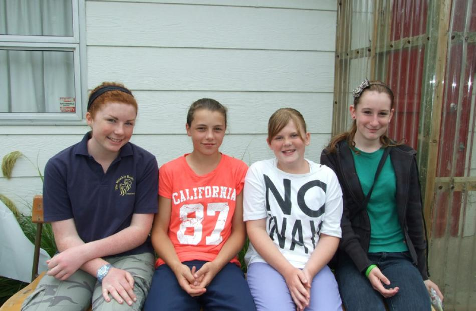 Louise Thorne (14) and Lorna Button (12), both of Port Molyneux, and Kaitlyn Visser (11) and...