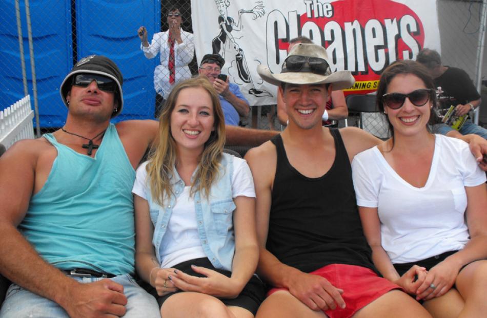 Queenstowners Carie McCarthy, Sam Rouse, Felix Ellis and Rebekah Key.