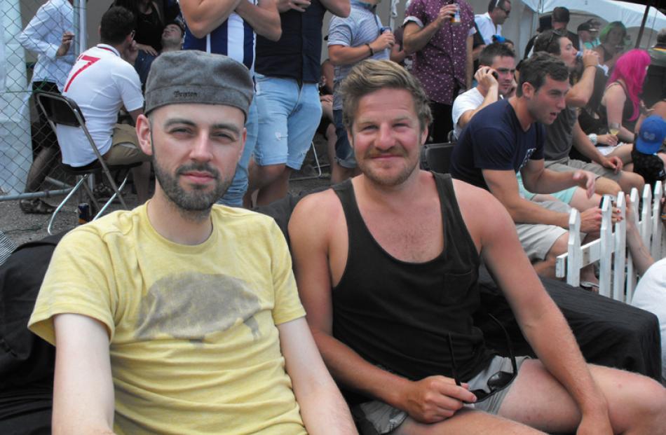 Visiting from the UK, Matt Crossman and Queenstown's Ben McGill.