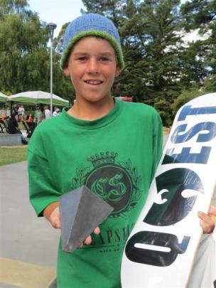 Todd Wilkins, of Wanaka, was judged best overall skateboarder on Saturday and won prizes...