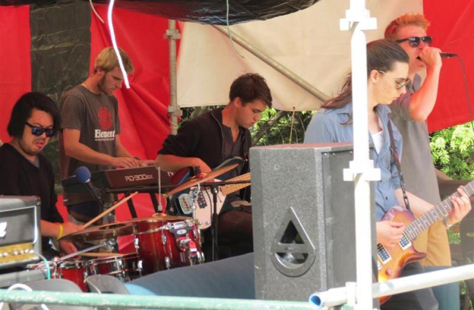Wakatipu band the Collective Me (from left) Yuki Brown, Josh Baldey, Dion Birch-Thompson, Matt...