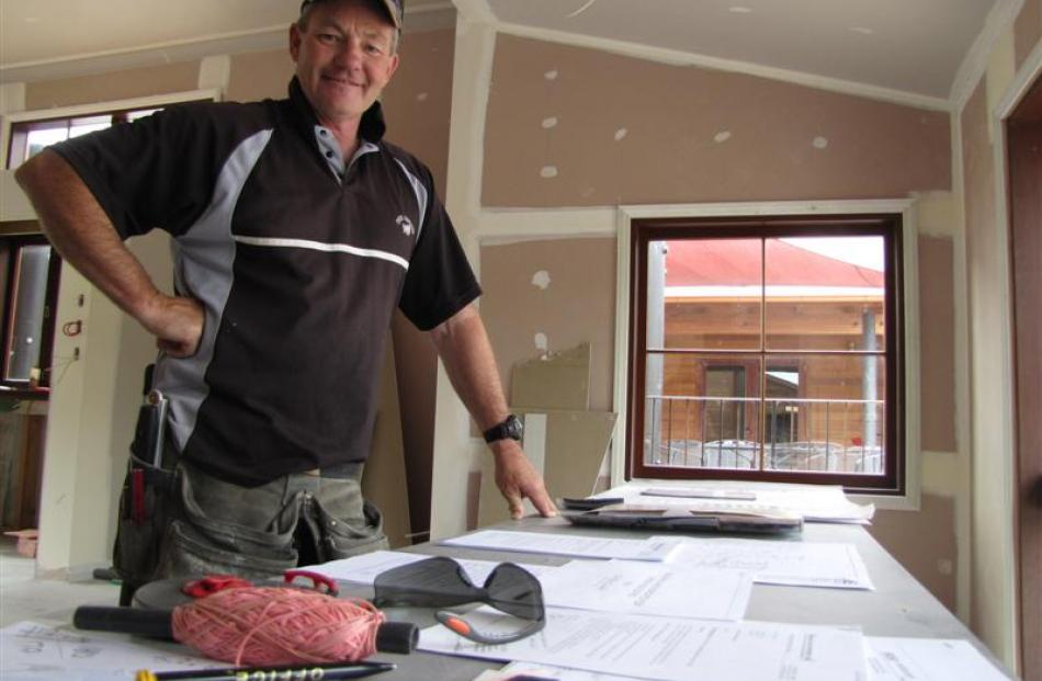 Mark Laing, one of the directors of Clyde Claim, goes over the plans for the almost completed...