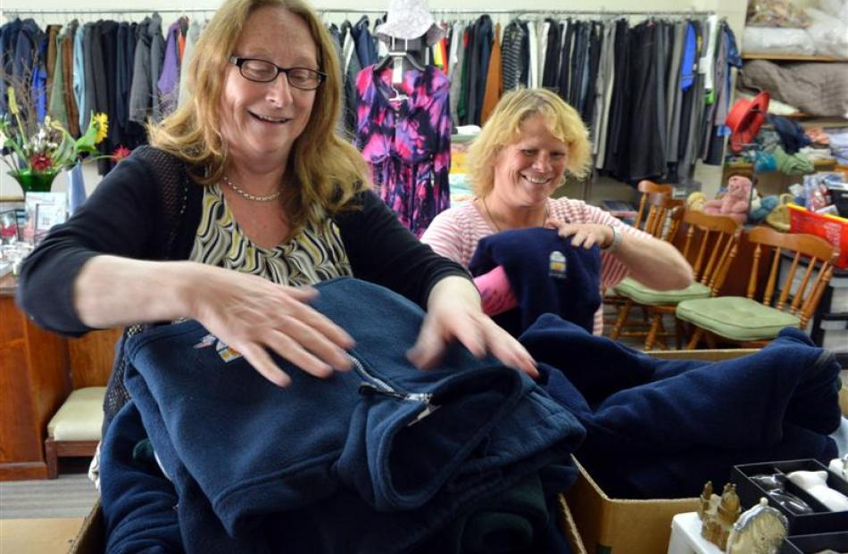 Salvation Army King Edward St Family Store manager Jane Orbell (left) and shop assistant Robyn...