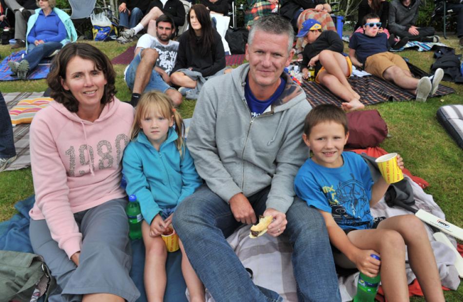 Sharyn, Claudia (6), Craig and Ryley (8) Park, all of Alexandra.