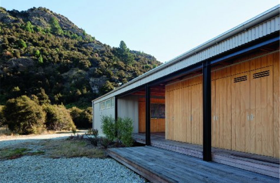 The rear elevation of the holiday house near Wanaka designed by Anna-Marie Chin. Photos by...