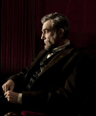 Daniel Day-Lewis as Abraham Lincoln, the 16th President of the United States, in the Steven...