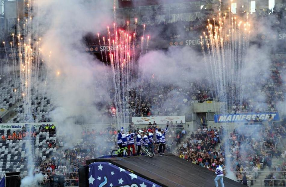 The Nitro Circus Live promoter was happy with the 'loud crowd' in Dunedin last night.