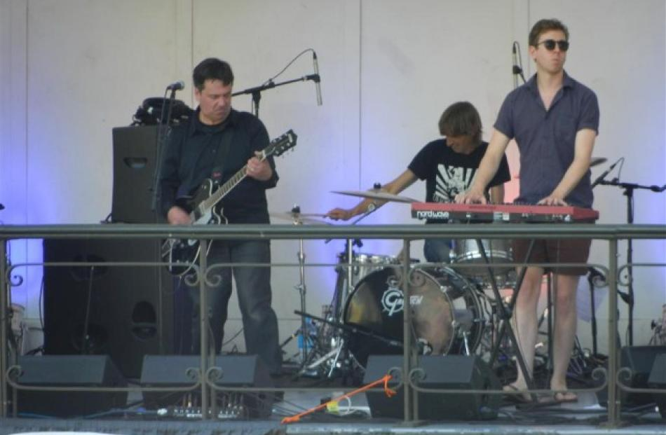 The band dressed for the occasion on a hot Dunedin summer's day.