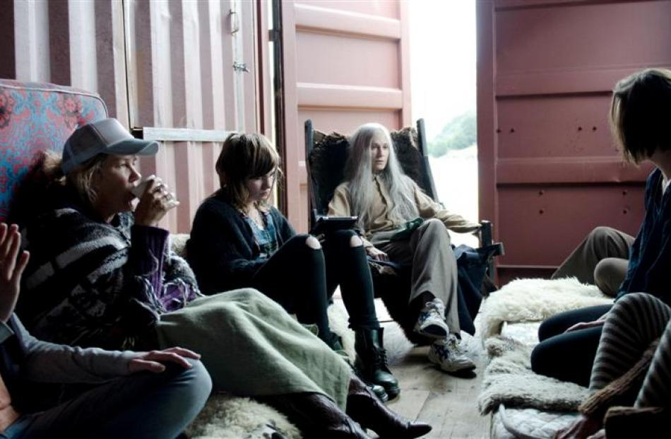 Top of the Lake cast members (from left) Robyn Malcolm, Georgi Kay and Holly Hunter are quizzed...