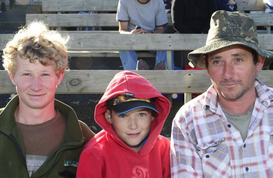 Ryan (22), Joseph (9), and Morris McLeod, of Dunedin.