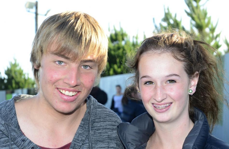 Sam Taylor (15) and Alana Bagley (13), of Dunedin.