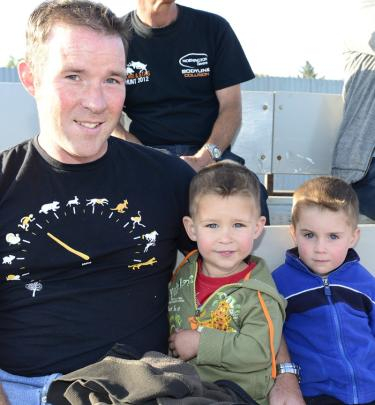 Stuart, Oliver (3), and Oscar (4) Harris, of Dunedin.
