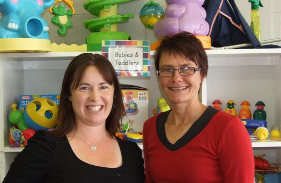 Tokomairiro Toy Library president Danique Girvan (left) and secretary Teri Cookson are excited to...
