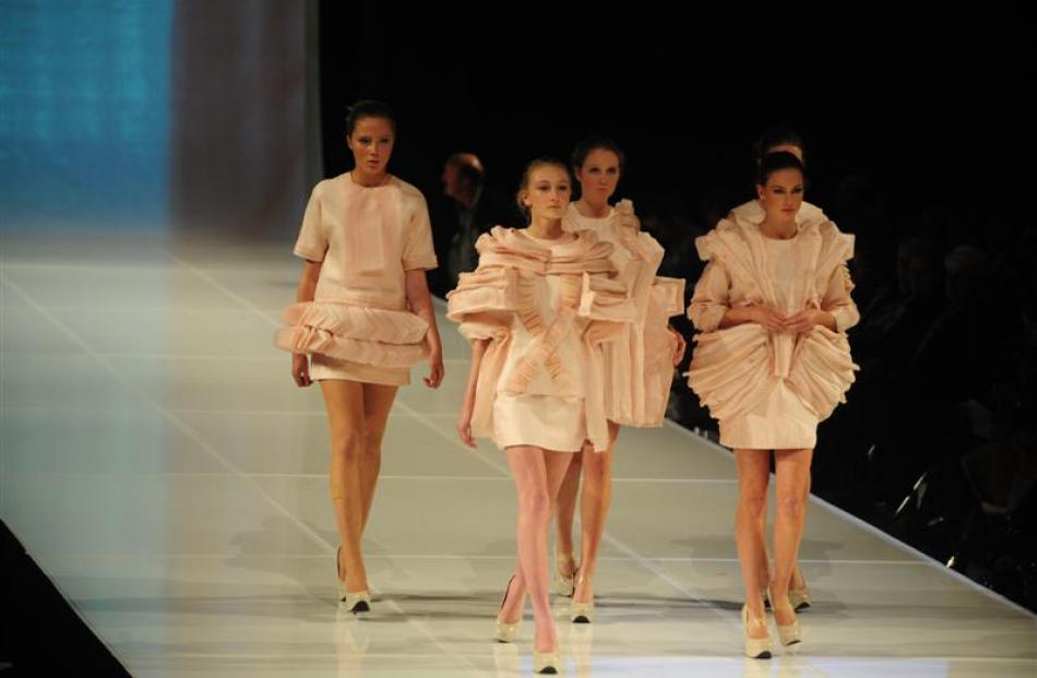 A 2011 collection from  Roxanna Zamani of the Otago Polytechnic School of Fashion. making...