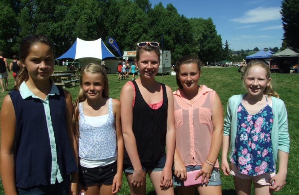 Harmony Tuhaka (11), Chaleece Kenealy (10), Annie McLaughlin (12), Jameisha Sheridan (12), and...