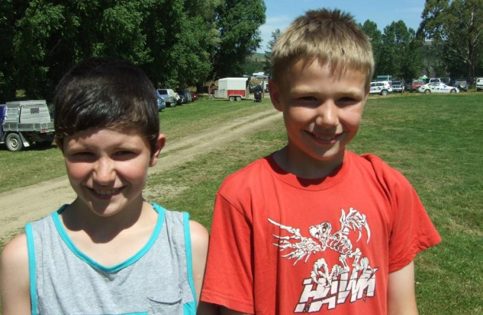 Jaxon Benington (10) and Caine Ritchie (11), both of Lawrence.