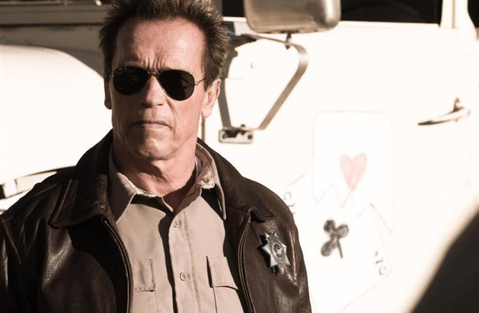 Action stars Arnold Schwarzenegger as Ray Owens in The Last Stand. Photos from MCT.