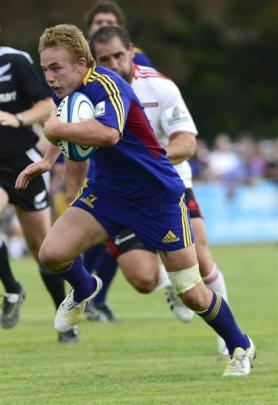 Highlanders first five-eighth Hayden Parker capped a fine game by scoring two tries.