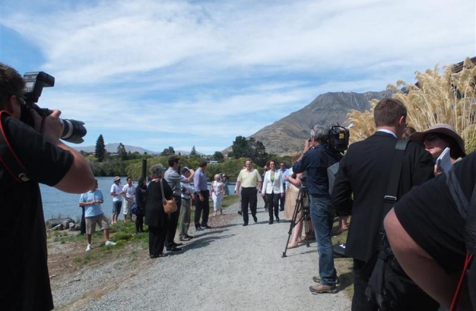 Australian Prime Minister Julia Gillard and New Zealand Prime Minister John Key, seen above on ...