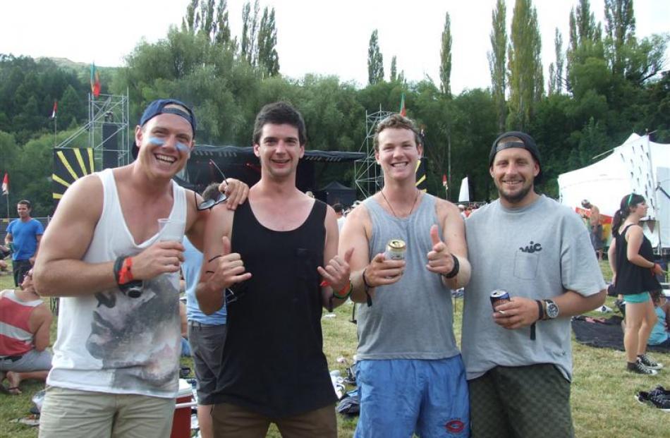 Charlie O'Connell and Ben Kerr, of Dunedin, Kieran Buckham, of Queenstown, and Adam Baxter, of...