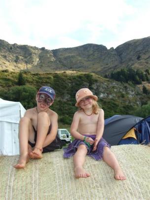 Luke (7) and Jasmin Harley (5), of Christchurch.