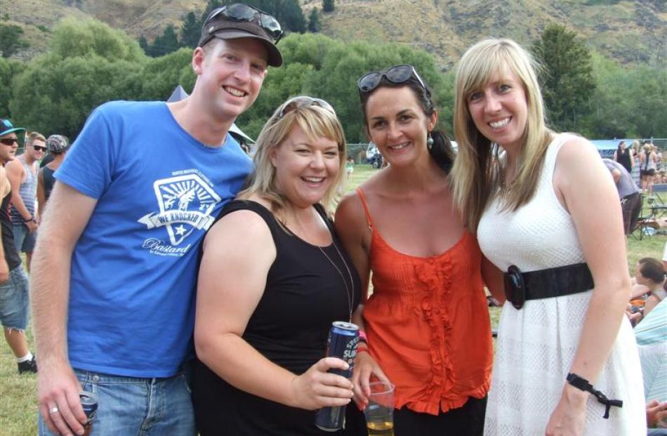Stefan Burrell, Kylie Smith, Ruth Peddie and Sarah Coghlan, of Queenstown.