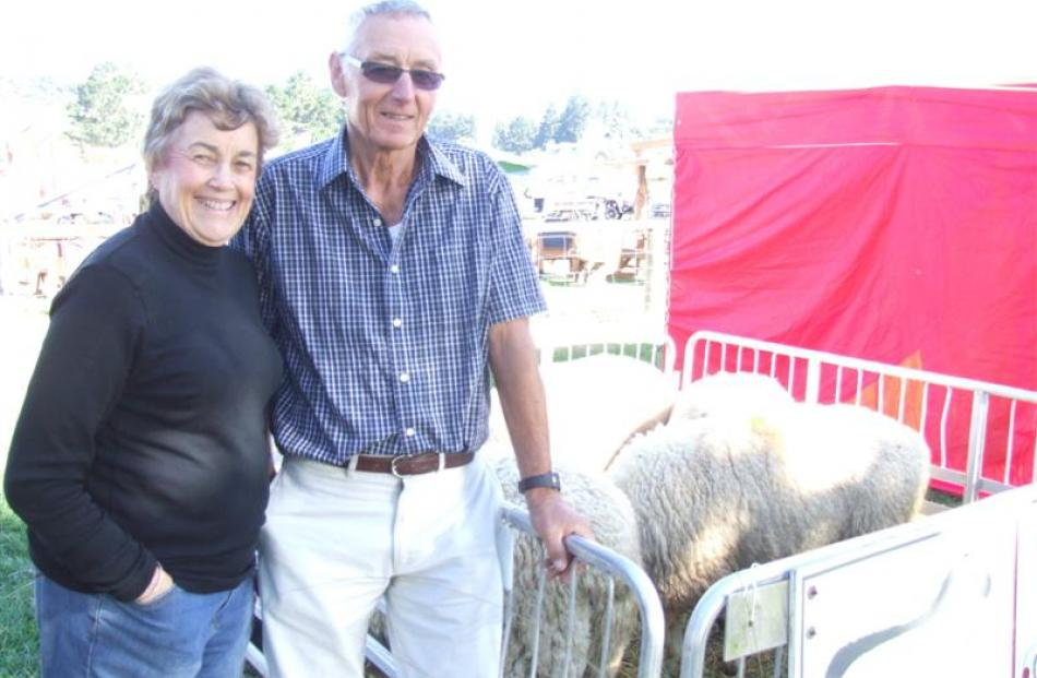 Gaynor and Chris Miller, from Glencoe, were displaying their Coopdale sheep at the Southfuels...