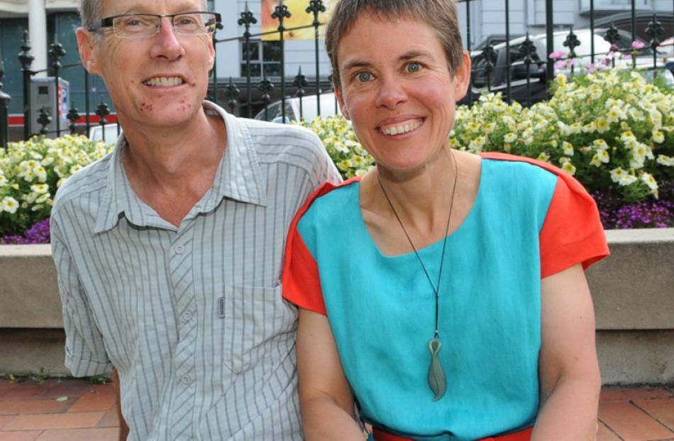 Alan Somerville and Dr Ruth Barnett, of Dunedin.