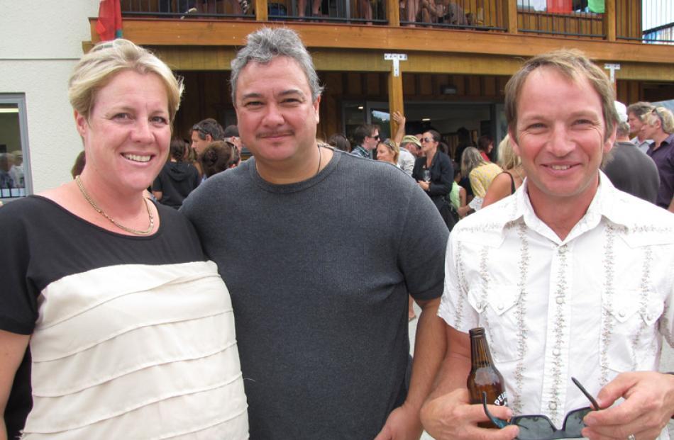 Mandy and Wayne Enoka, and Paul Lahood, all of Wanaka.
