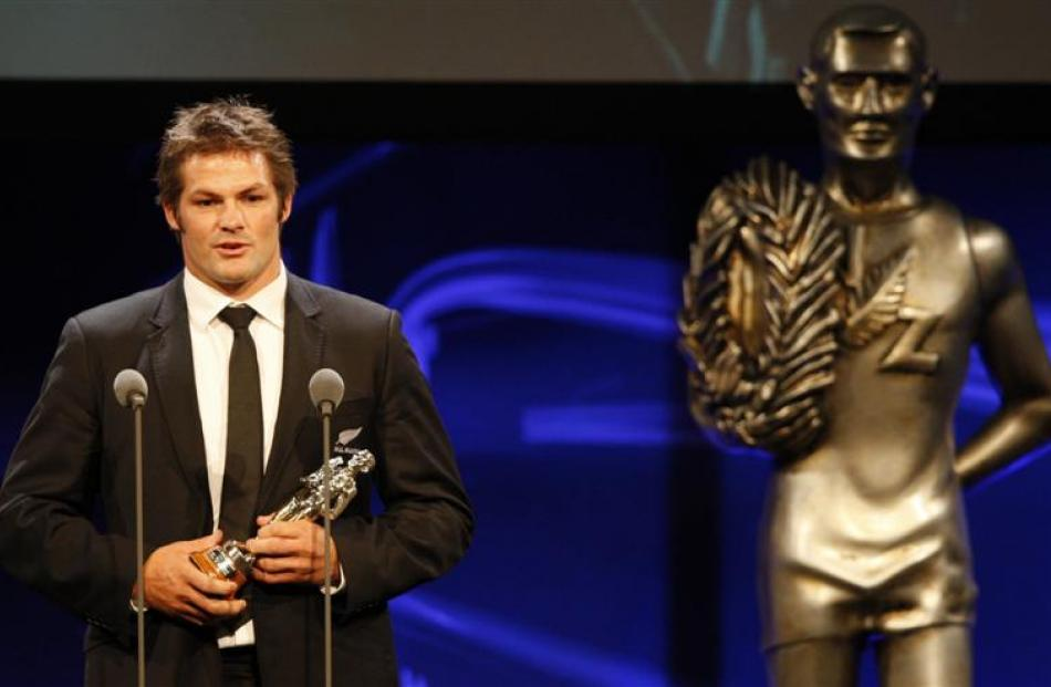 2011 winner All Black captain Richie McCaw.