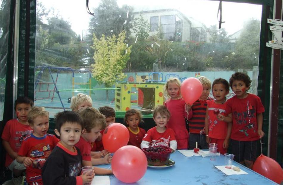 Children at Frankton Kindergarten.